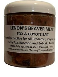 Lenon#x27;s Beaver Meat Fox and Coyote Trapping Bait 8oz Jar $9.00