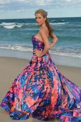 Bohemian Beach Silk Wedding Gown Corset  Blue purple Quartz pink 4 6 8 10