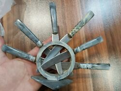 Old kitchen home knives with stand. Stainless $22.00