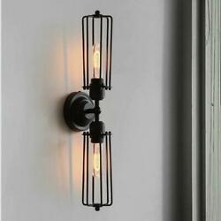 Industrial 2 Lights Ceiling Lamps Flush Mounted Steampunk Lighting Wall Fixtures $34.95