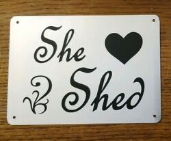 She Shed Metal Sign She Shack Babe Cave Great Gift