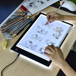 A4 LED Copy Board Super Thin Light Box Drawing Pad Tracing Table USB Cable with