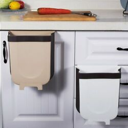 Creative Wall Mounted Folding Waste Bin Kitchen Bin Can Rubbish Container Box $16.99
