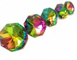 5 Vitrail Rainbow 30mm Octagon Chandelier Crystals Prism Beads $11.99