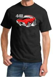 1970-72 Olds 442 Cutlass Red Hardtop Full Color Retro Tshirt NEW FREE SHIP $20.00
