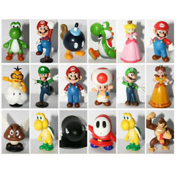 18pcs Super Mario Bros PVC Action Figure Doll Playset Figurine Toy Model Gift US