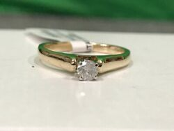 Lady's Diamond Solitaire Ring .25 CT. 10K Yellow Gold 2.6g Size:7 (SS2034202)
