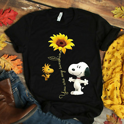 You are My Sunshine Sunflower Snoopy Women Tee