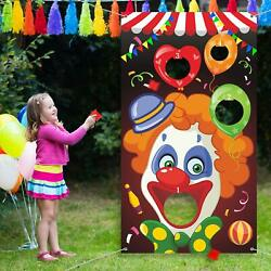 Carnival Toss Games with 3 Bean Bag Fun Carnival Game for Kids and s Clown