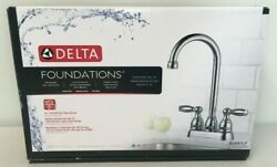 Delta B28911LF Foundations Two Handle Bar  Prep Faucet Brand New!