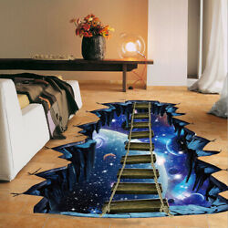 Large 3d Cosmic Space Wall Sticker Home Decoration for Kids Room Floor Living Ro $16.99