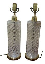 LF41804EC: Pair WATERFORD Crystal Lamps $371.25