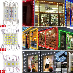 Bright 6 LED Bulb Module Lights Club Store Front Window Sign Backlight Box Lamp