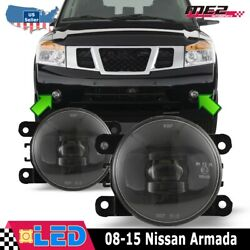 Fits 08-15 Nissan Armada Clear PAIR OE Bumper Replacement LED Fog Light Lamps $65.79