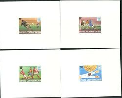 CENTRAL AFRICA Sc#303-308 1977 World Soccer Cpl Set & SS Rare Card Proofs