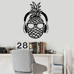 Pineapple Wall Decal Teenager Modern Decor Bedroom Removable Wall Sticker $17.93