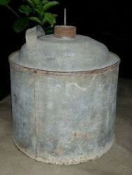 Old Vintage Galvanized Tin Metal Can
