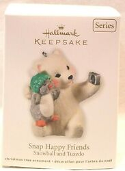2011 Snowball and Tuxedo Snap Happy Friends Hallmark Keepsake Ornament