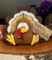 Turkey Shelf Sitter Fall Decor