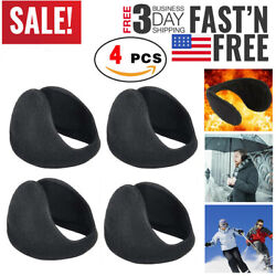 4 pcs Unisex Ear Muffs Warmers Fleece Winter Ear Earwarmer Behind the Head Band