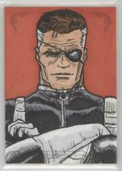 2018 Upper Deck Marvel Masterpeices Nick Fury Sketch Card by Jerry Bennett