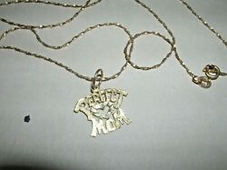 10Kt. Yellow Gold Chain and 14kt. Pendant Very Good Condition Low Start