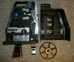 Rare VINTAGE BELL & HOWELL 475 TELE-SONIC 8mm Portable PROJECTOR Complete Remote
