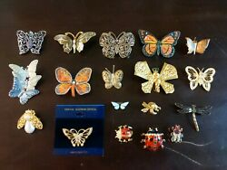 18 Butterfly & Lady Bug Brooches Vintage & Modern & Cute As A Bug! 7