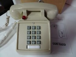 Cortelco VOE-57MC ASH Desk Push Button Telephone Volume Control Data PABX