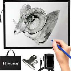 Voilamart A2 Light Box Drawing 12V LED Tracing Board with 3 Level Brightness Pad