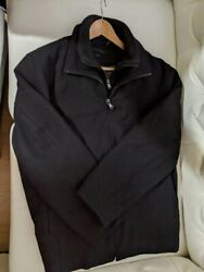Calvin Klein Wool Blend Coat with Double Zipper for Men Medium