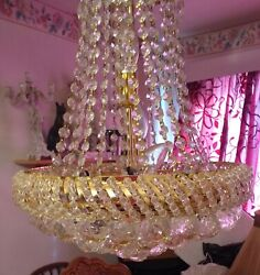 CHANDELIER French Empire Style Tent and Waterfall Chandelier GBP 700.00