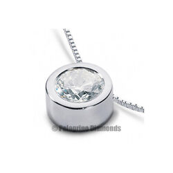 2 CT E SI2 Round Brilliant Natural Certified Diamond Platinum Solitaire Pendant
