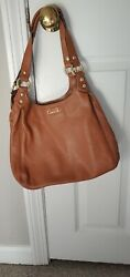Coach handbag used small brown leather VERY good condition