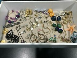 Vintage Jewelry Lot Earrings Pins Necklaces Bracelets and Charms