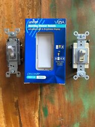 Leviton Switch Mix lot 1 Dimmer W Remote 3 Beige on Beige 7 White on Clear
