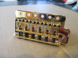 FENDER VINTAGE BRIDGE IN GOLD for MIM MEXICAN STRAT  STRATOCASTER GUITAR  $23.00