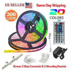 32.8 Feet RGB Waterproof LED Strip Light SMD 44 Key Remote 12V DC Power Kit 5050 $34.95