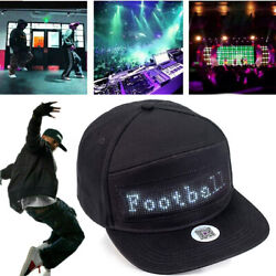 Party Animated LED Message Sign Hiphop Cap Men Adjustable Snapback Baseball Hat $17.99