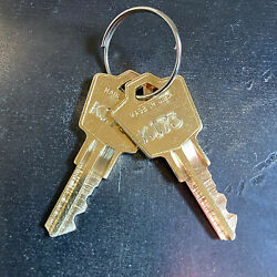 2 Knoll Furniture Desk Replacement Keys from Key Code K001 K250 Free Track $10.79