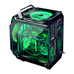 RGB Computer Case Gaming ATX Mini Aluminum Alloy Frame Tempered Glass PC Chassis $269.98