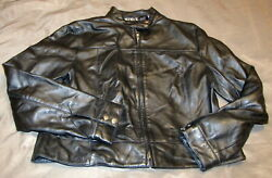 MixIt Black Leather Jacket Women's Size 12 Lined Coat Biker Classic Buttery EUC