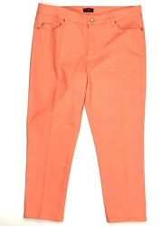 NYDJ Not Your Daughters Orange Ankle Jeans Womens Size 16 Stretch Denim