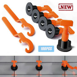 Flat Ceramic Floor Wall Construction Tools Reusable Tile Leveling System Kit F