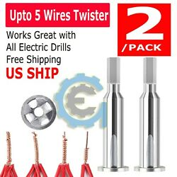Universal Electrical Cable Twist Quick Connector Drill Bit Wire Stripper Tool $6.95