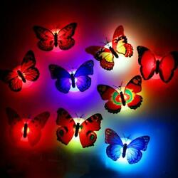 3D Colorful Changing Butterfly LED Night Light Lamp Room Home Party Wall Decor $10.71