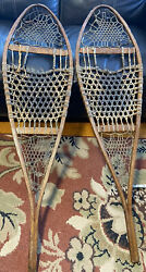 Stunning Vintage W.F. TUBBS Snowshoes Norway Maine 49quot; X 14quot; $99.99