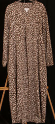 495 Cabernet Animal print Caftan XL