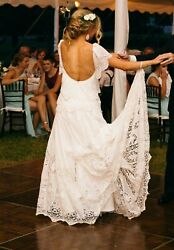 Rue de Seine Eve Gown -- Boho Wedding Dress in Perfect Condition
