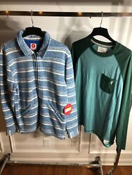 Toes On The Nose Beach Surf Jacket Long Sleeve Shirt Bundle TJ4097 NWT $40.00